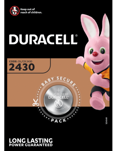KAST 10tk! Duracell patarei DL 2430...