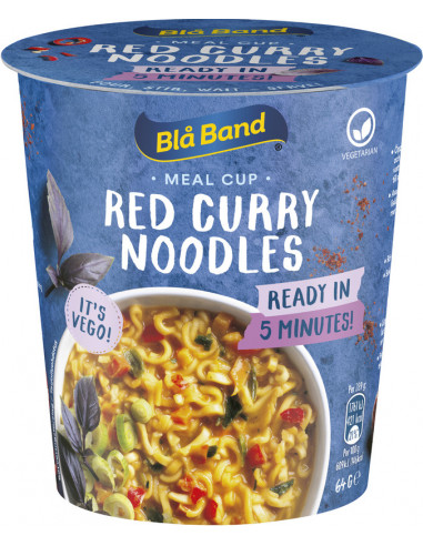 KAST 8tk! Blå Band Red Curry nuudli...