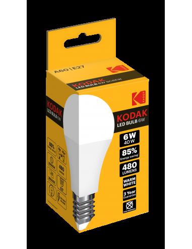 Kodak LED 6W (40W) E27 soe valge A60...