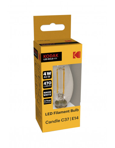 Kodak LED Filament 4W (40W) E14 soe...
