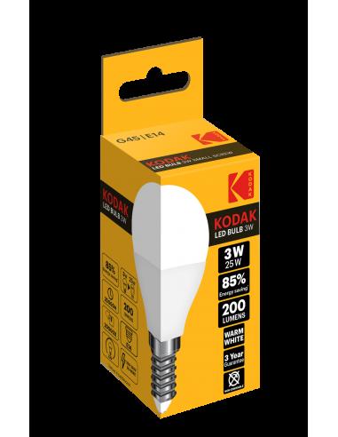 Kodak LED 3W (25W) E14 soe valge G45...