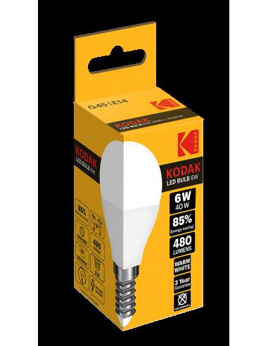 Kodak LED 6W (40W) E27 soe valge G45...