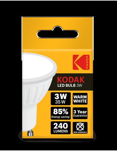 Kodak LED 3W (25W) GU10 soe valge 240lm