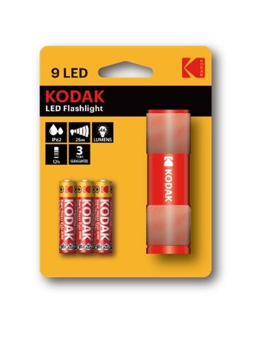 Kodak taskulamp 9-LED punane +3AAA,...