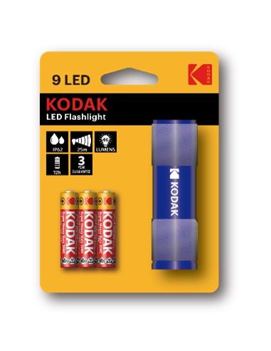 Kodak taskulamp 9-LED sinine +3AAA,...