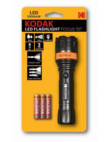 Kodak taskulamp Focus157 +3AAA, 50m...