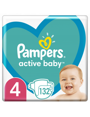 Pampers Active Baby, Suurus 4, 132...