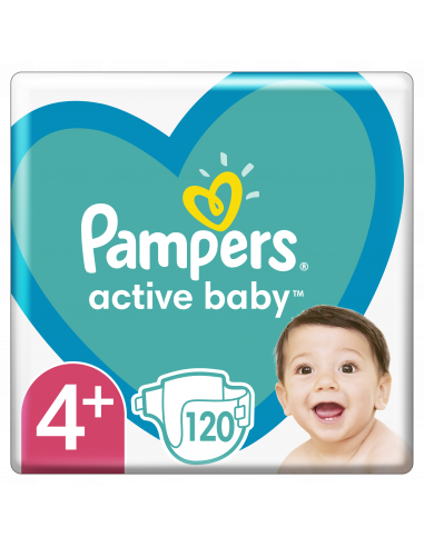 Pampers Active Baby, Suurus 4+, 120...