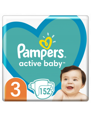 Pampers Active Baby, Suurus 3, 152...