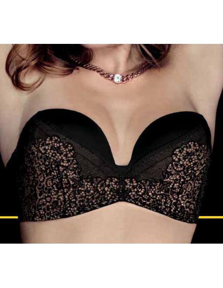 Wonderbra Ultimate Strapless Lace Bra W016N Black