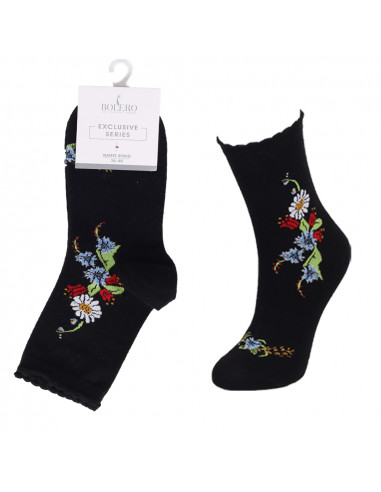Naiste Bolero rahvusmustriga sokk