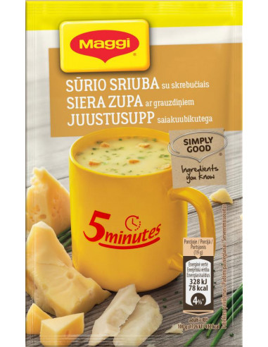 MAGGI® juustu kiirsupp krutoonidega 19g